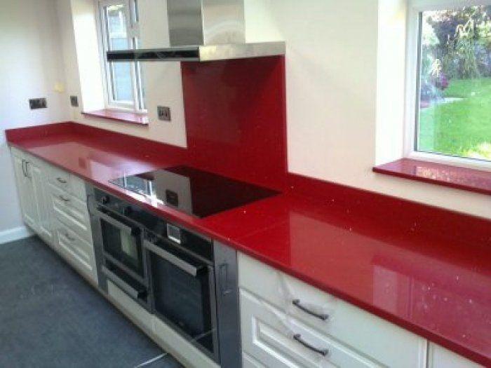 Red quartz kitchen worktop | Kitchen, Kitchen top quartz, Red kitch