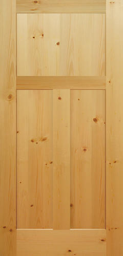 Mastercraft® Knotty Pine Mission Flat 3-Panel Interior Door Only .