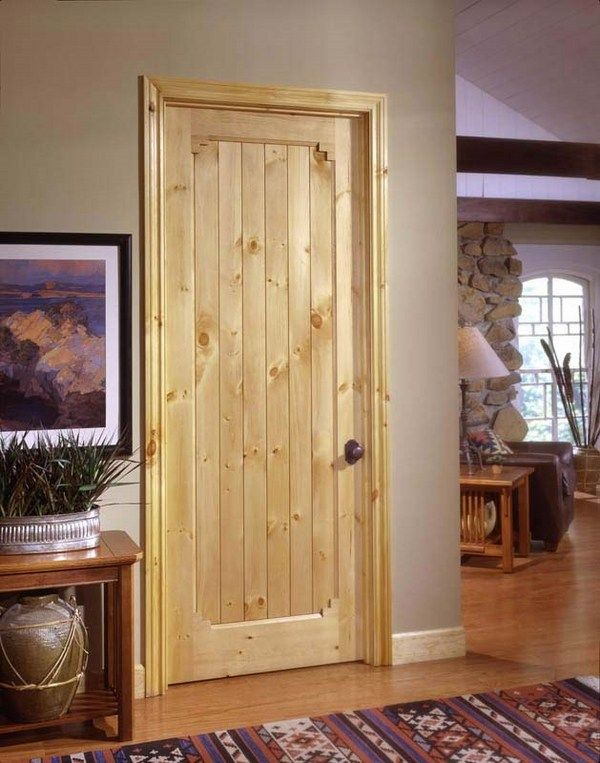 Knotty pine doors – beautiful solid pine wood interior doors .