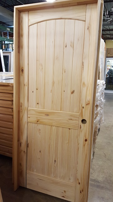 Pine Two Panel Arch Top Knotty Wood Interior Door Prehung .
