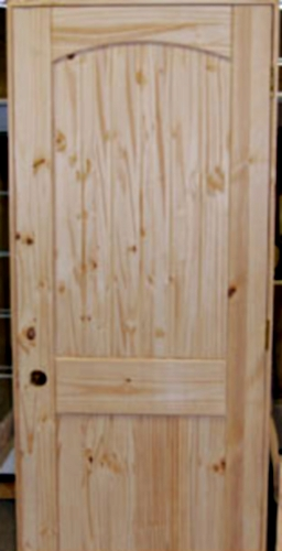 Set of 4 Unfinished Solid Wood Pre-Hung Knotty Pine Interior Doo