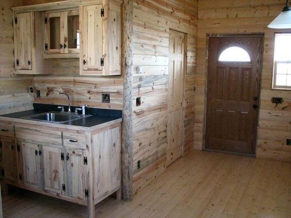 Best pine kitchen cabinets: original rustic style - Beautikitchens.c
