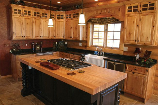 Knotty Pine Kitchen Cabinets : Kitchen Design Ideas light colored .