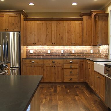 Knotty Pine Kitchen Cabinets Design Ideas, Pictures, Remodel and Dec