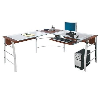 Realspace Mezza L Shaped Desk Cherry - Office Dep