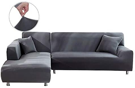 Amazon.com: WOMACO L Shape Sofa Covers Sectional Sofa Cover 2 pcs .