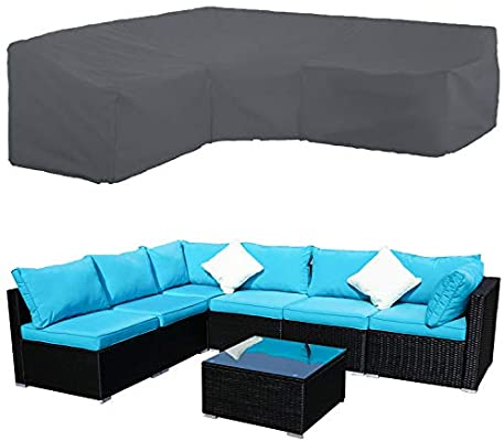 Amazon.com : STARTWO Patio V-Shaped Sectional Sofa Cover, Patio .