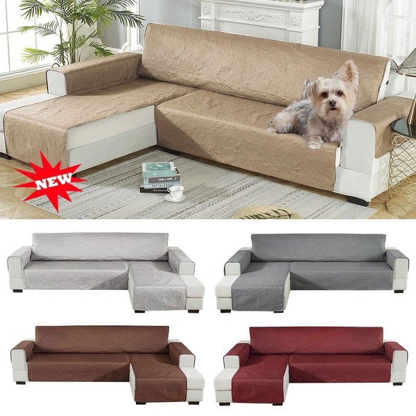 L Shape Pets Sofa Slipcover Waterproof Sofa Cover Non-slip .