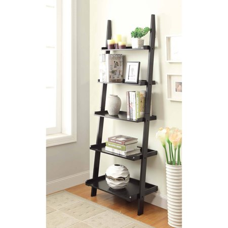 Convenience Concepts American Heritage 5-Shelf Ladder Bookcase .
