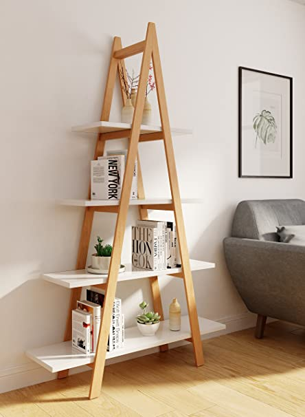 Amazon.com: Universal Expert Abacus Ladder Bookshelf, Oak/White .