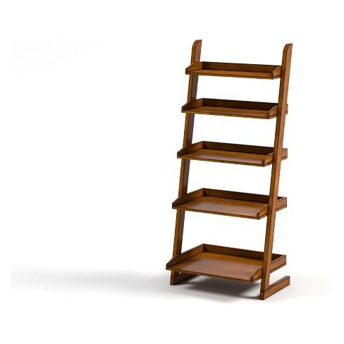 "55"" Claire 5 Shelf Ladder Bookcase Oak - IoHOMES : Targ"