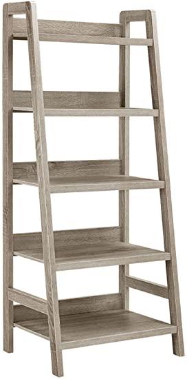 """Amazon.com: Linon Tracey Ladder Bookcase, 25""""W x 17.99""""D X 60""""H ."""