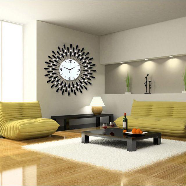 Personalized Large modern wall clock fashion mute electronic .