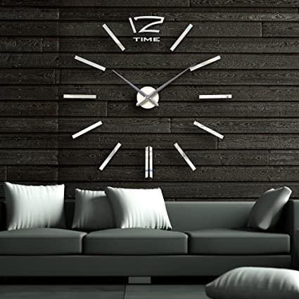 Amazon.com: Lance Home DIY Wall Clock, Large Modern Wall Clock .