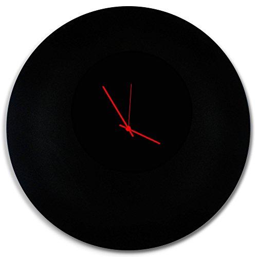 Amazon.com: Minimalist Black Clock 'Blackout Red Circle Clock .