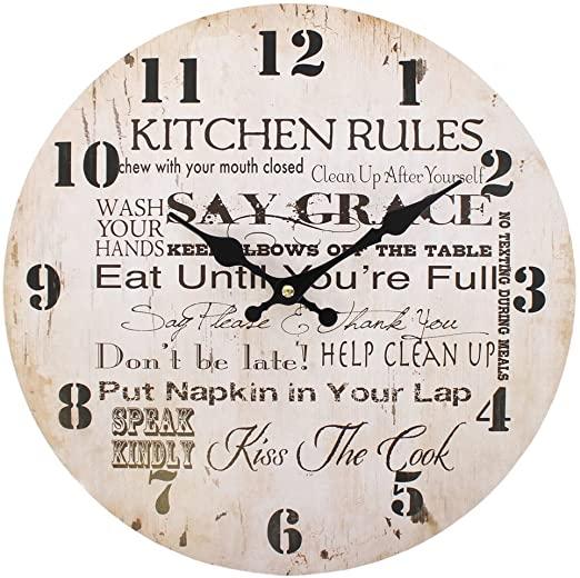 Amazon.com: Elements Kitchen Rules 35123 - Large Rustic Retro .