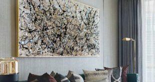extra large canvas art, large neutral wall art, large acrylic art .