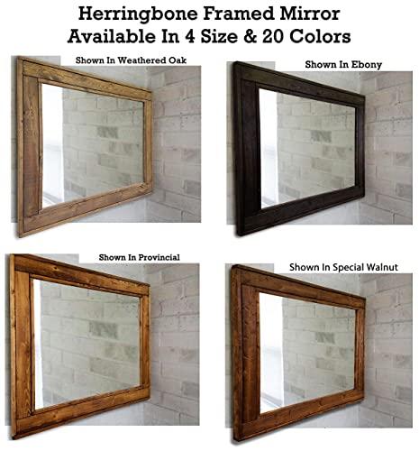 Amazon.com: Herringbone Large Mirror - Double Vanity Mirror .