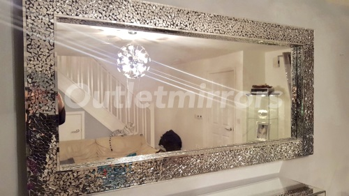 Contemporary Large Silver Wall Mirror - Trend Design Mode
