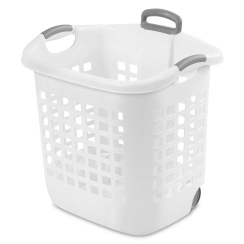 Sterilite Wheeled Laundry Basket - White : Targ
