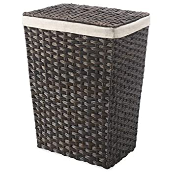 Amazon.com: Whitmor Rattique Laundry Hamper with Lid and Removable .