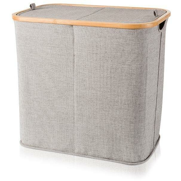 Union Rustic Bamboo Double Split Laundry Hamper with Lid | Wayfa