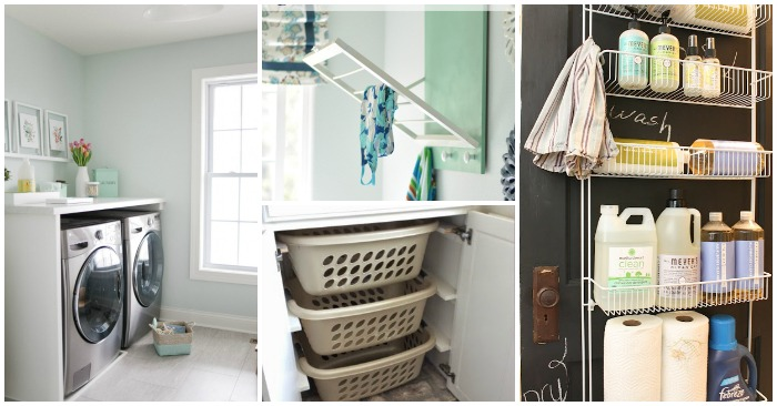 17 Tips and Tricks for an Organized Laundry Ro