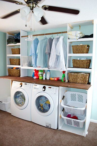 Ideas for an Organized Laundry Room | Laundry room design, Laundry .