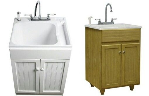 Laundry Tub Cabinet. Nice way to dress up your laundry tub. Doing .
