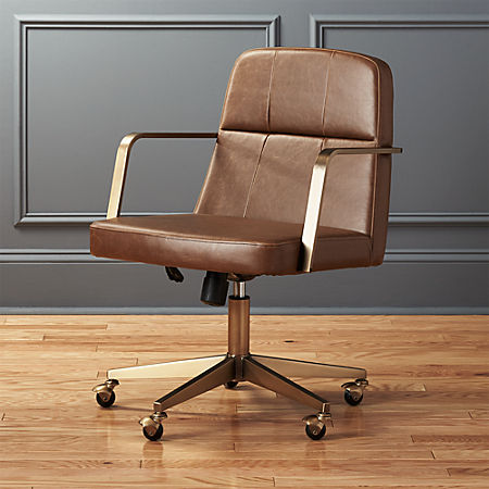 Draper Faux Leather Office Chair + Reviews | C