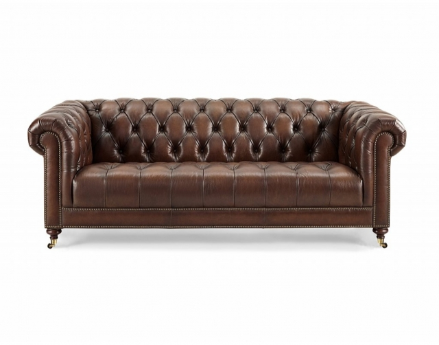 Buckley Leather Chesterfield 3.5 Seater Sofa - 3 Seater Sofas .