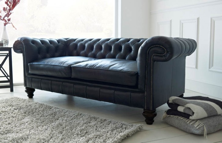 Paxton Black Leather Chesterfield | Chesterfield Compa