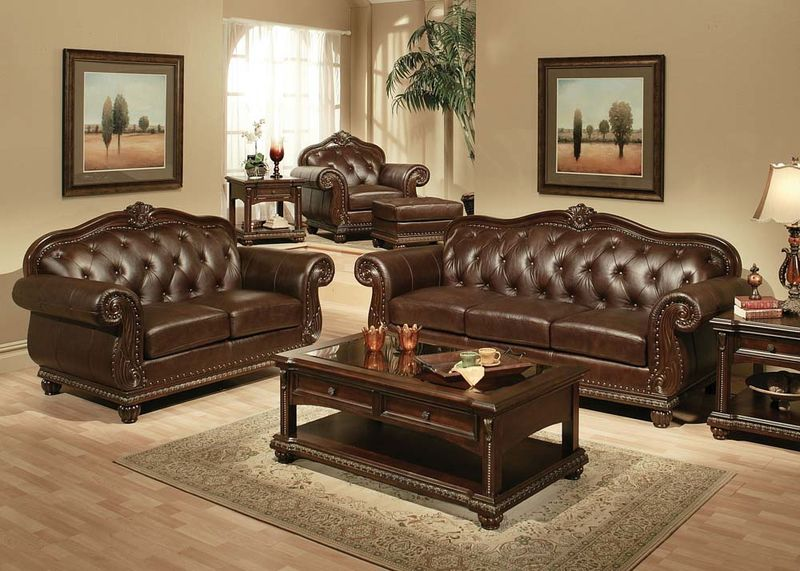 Acme | 15030 Anondale Formal Leather Living Room Set | Dallas .
