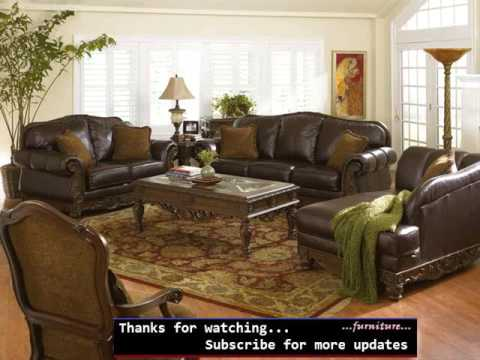 Leather Living Room Furniture Set Colelction Romance - YouTu