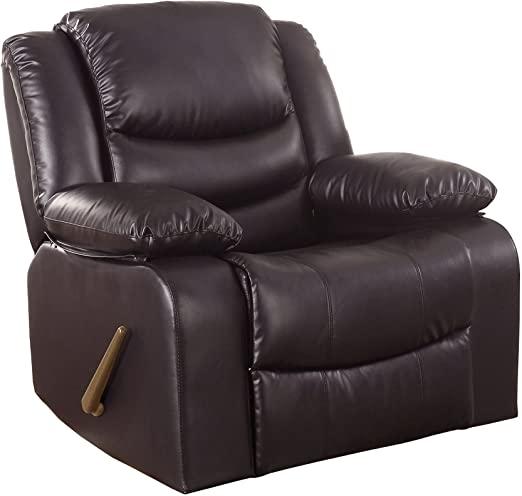 Amazon.com: Divano Roma Furniture Bonded Leather Rocker Recliner .