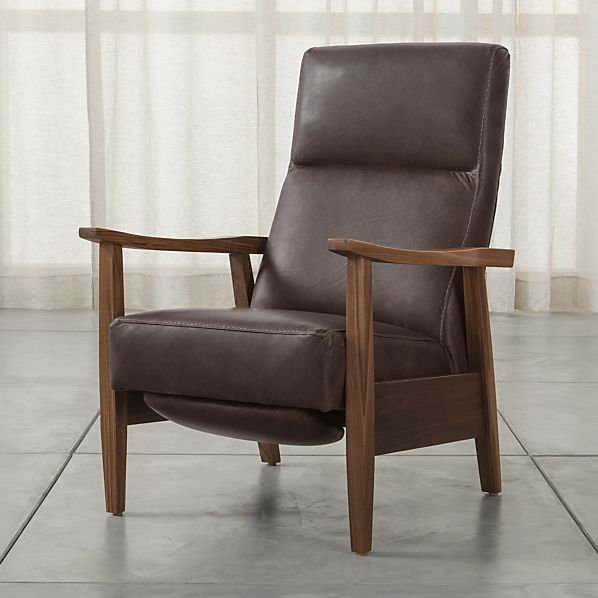 Greer Modern Leather Recliner + Reviews | Crate and Barr