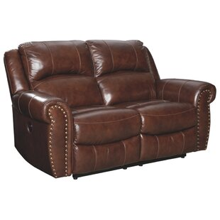 Real Leather Recliner Loveseat | Wayfa