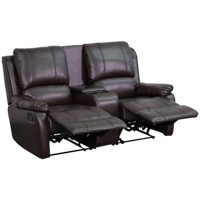 Flash Furniture Allure Series Modern Brown Faux Leather Reclining .