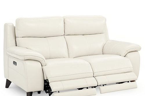 "Furniture Milany 69"" Leather Power Reclining Loveseat with Power ."