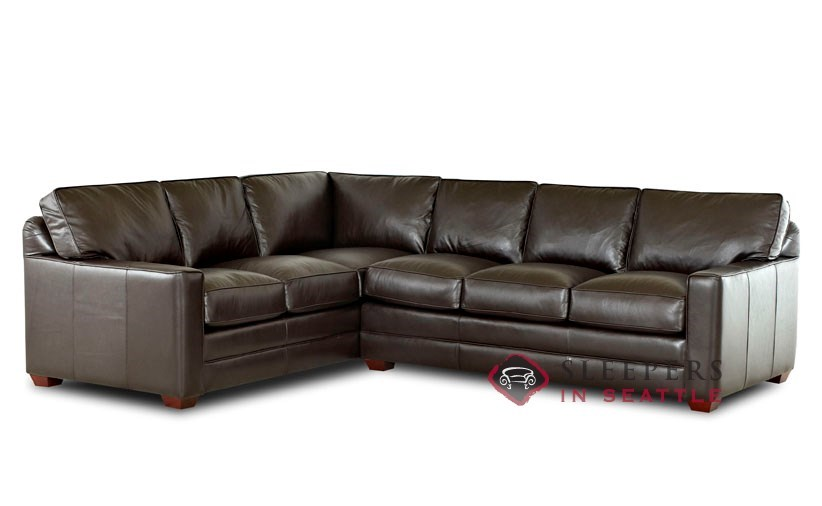 Customize and Personalize Palo Alto True Sectional Leather Sofa by .