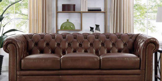 Allington Top Grain Leather Sofa - Bro