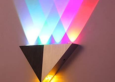Lemonbest Modern Triangle 5W LED Wall Sconce Light Fixture Indoor .