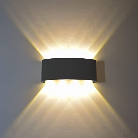 FLYDEER Modern Wall Sconce Lights 8W LED Room Wall Lights Up Down .