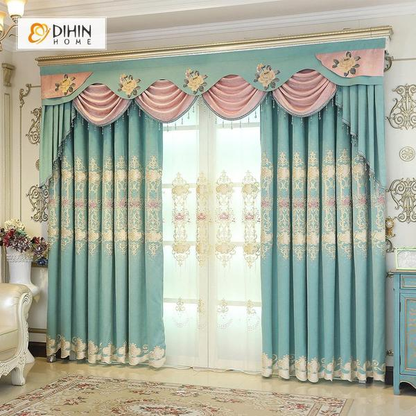 Valance and Blackout Curtain Sheer Window Curtain for Living Room .