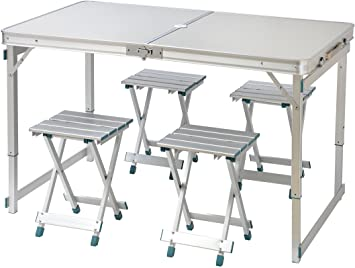 "Amazon.com: Trademark Innovations 47.2"" 4 Person Aluminum ."