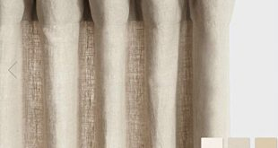 Amazon.com: Belgium Linen Curtains Linen Drapes 10+ Colors: Handma