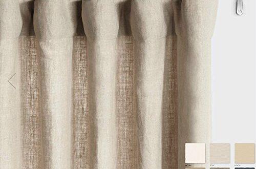 Amazon.com: Belgium Linen Curtains Linen Drapes 10+ Colors: Handma