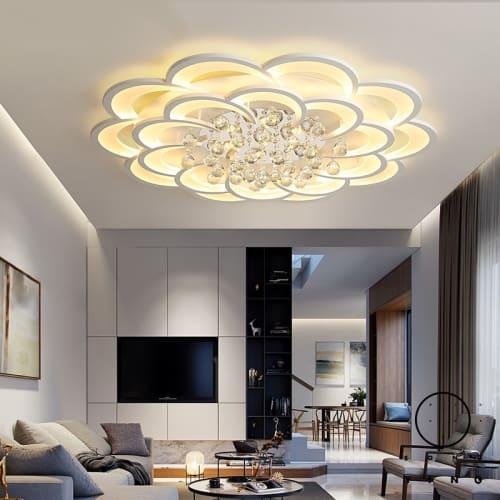 Modern Led Ceiling Lights Fixture For Living Room Crystal .