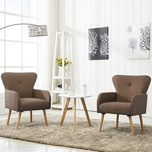 Amazon.com: Magshion Elegant Upholstered Fabric Club Chair Accent .