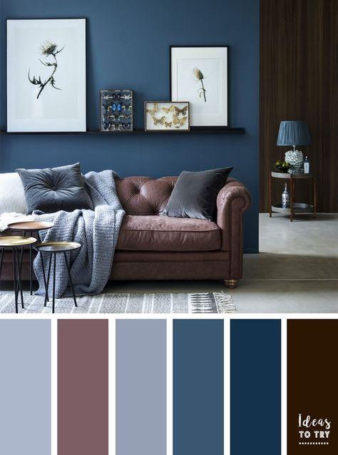 Brown Living Room Decor Ideas | Blue living room color scheme .